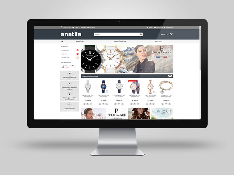 Anatila női, férfi ékszerek és órák webáruháza