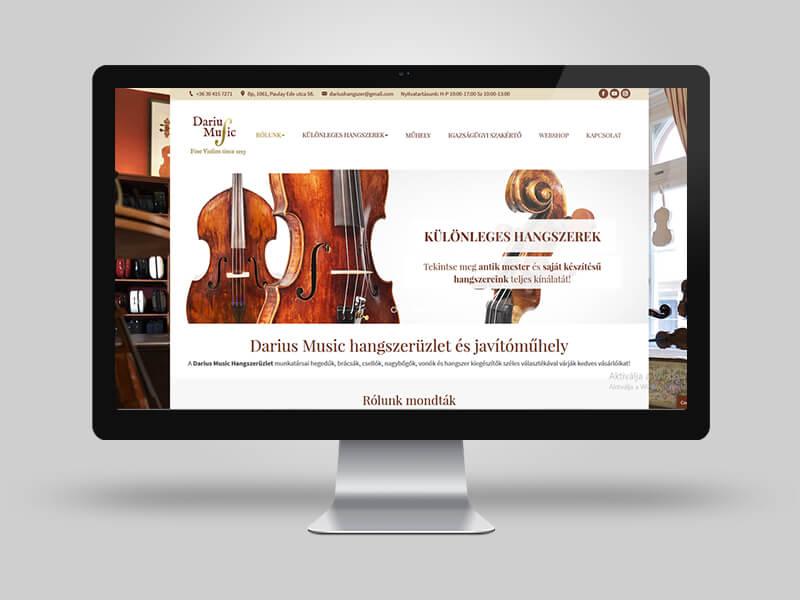 Dárius Music bemutatkozó weboldal