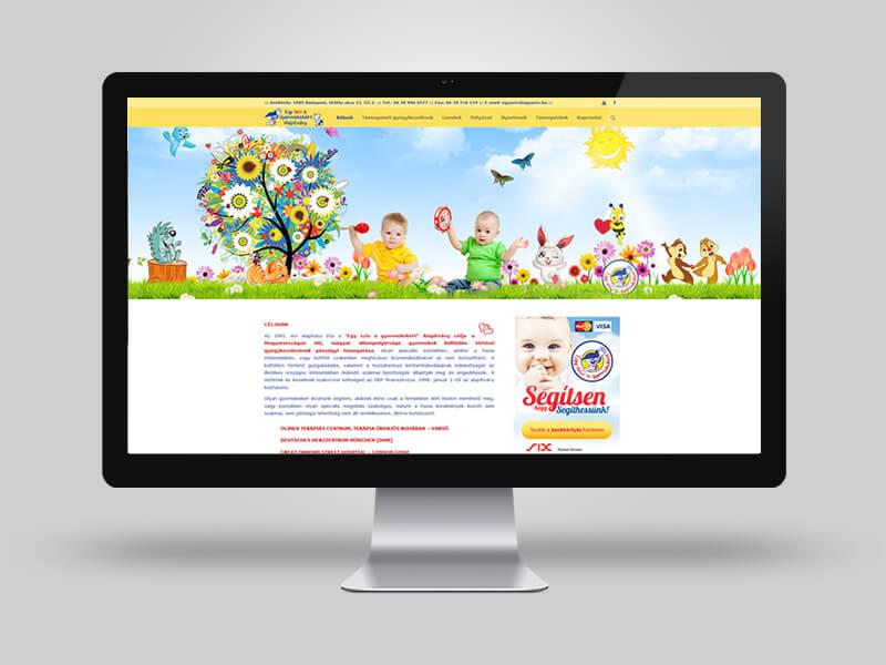 Egy szív a gyermekekért Alapítvány bemutatkozó weblap