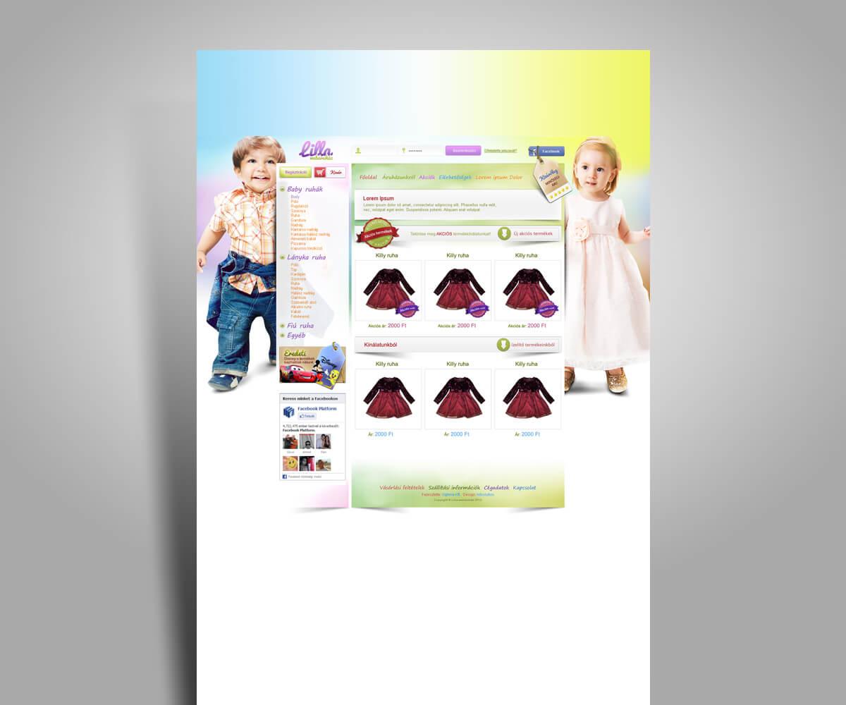 Lilla webáruház fejlesztés - mobilbarát weboldal tervezés