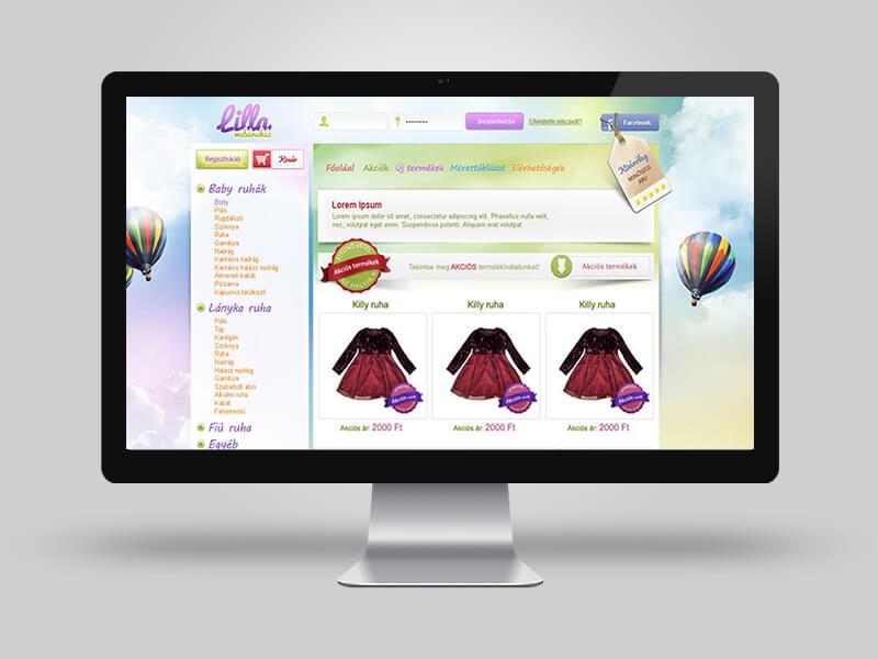 Lilla webáruház