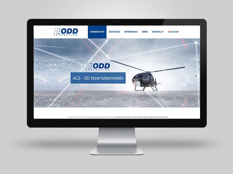ODD Consulting Informatikai Tanácsadás - cégbemutató weboldal
