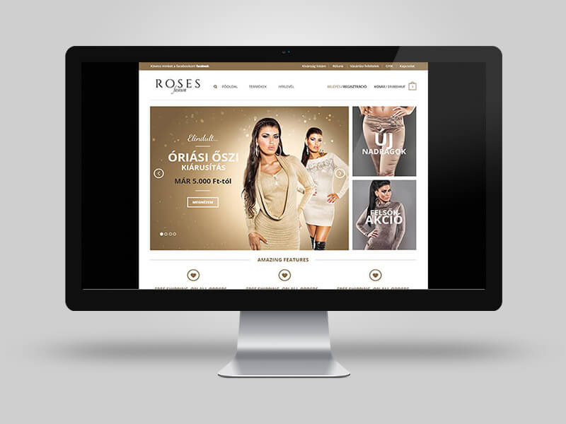Roses Fashion webáruház