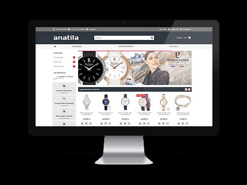 Anatila webáruház készítés