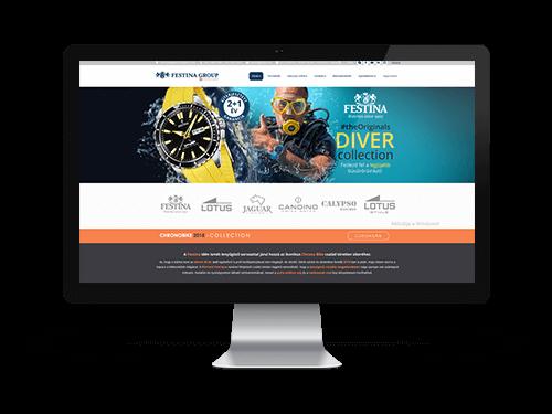 Festina - Cégbemutató weblap tervezés