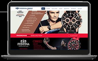 Festina - Cégbemutató és katalógus weboldal készítés