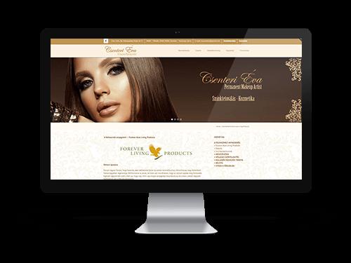 Csenteri Éva sminktetoválás és kozmetika- bemutatkozó weblap tervezés