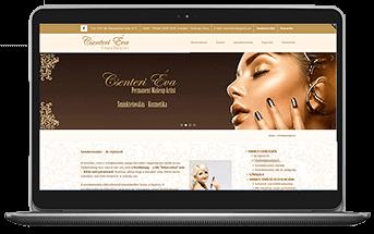 Csenteri sminktetoválás és kozmetika - Cégbemutató weboldal készítés
