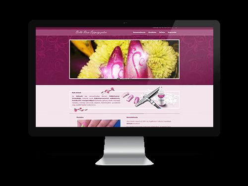 Airbrush műköröm építés - bemutatkozó weboldal tervezése