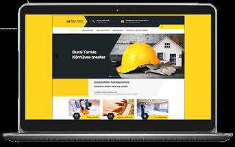 Burai Tamás kőműves - cégbemutató weboldal készítés