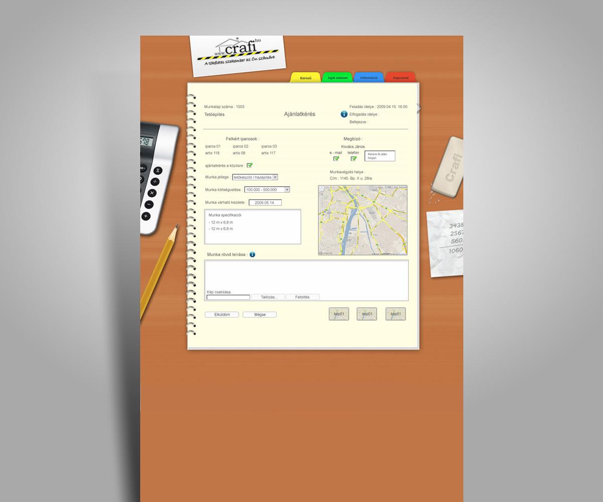 Crafi szakember kereső weboldal - mobilbarát weboldal tervezés