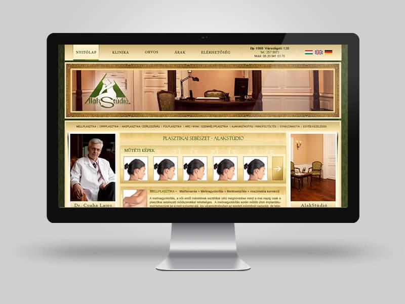 Dr. Csuha Lajos - saját fejlesztésű bemutatkozó weboldal