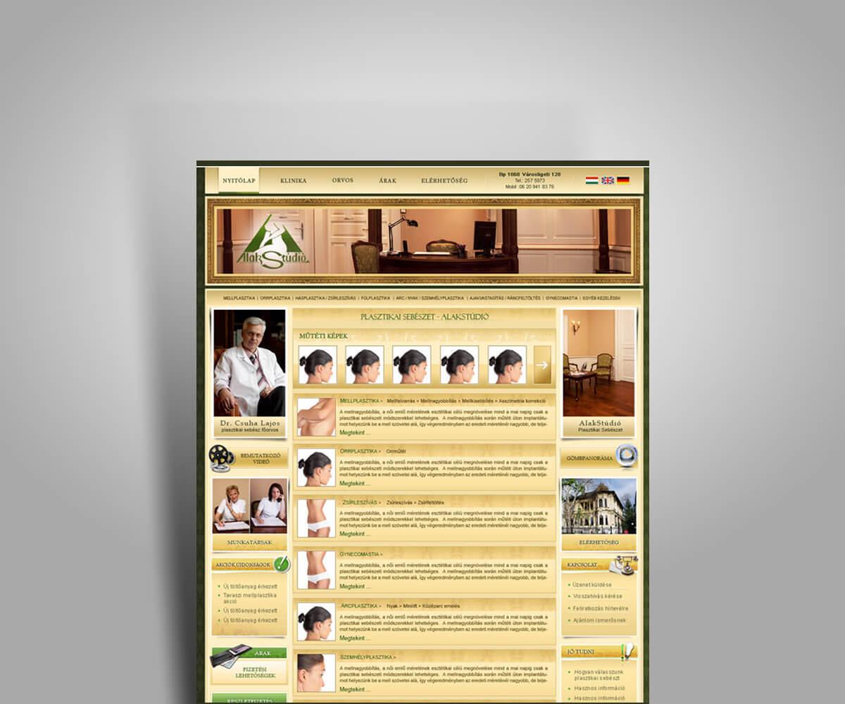 Dr. Csuha Lajos bemutatkozó weboldal - mobilbarát weboldal tervezés