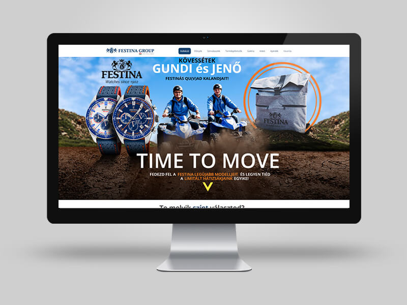 Festina The Originals Collection Landing page