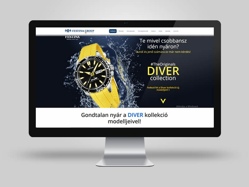 Festina - Diver Collection Landing page tervezés