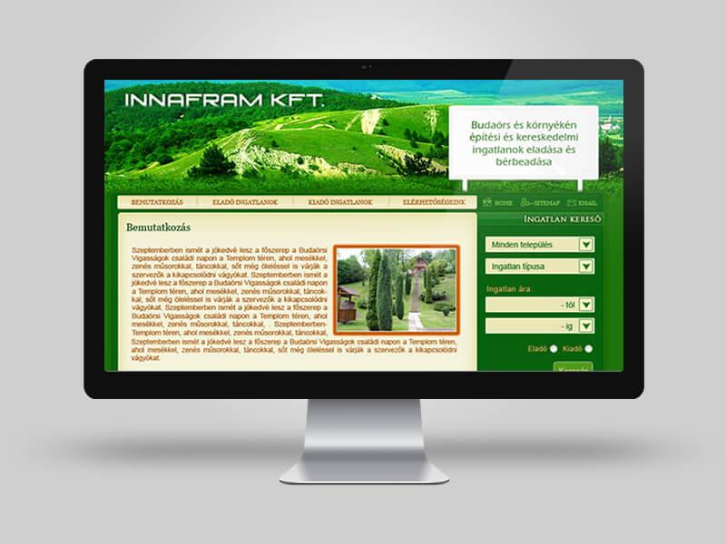 Innafram cégbemutató weboldal