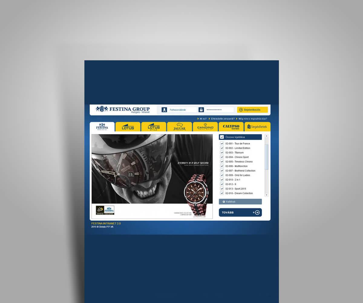 Intranet rendszer felhasználói felületének grafikai tervezése