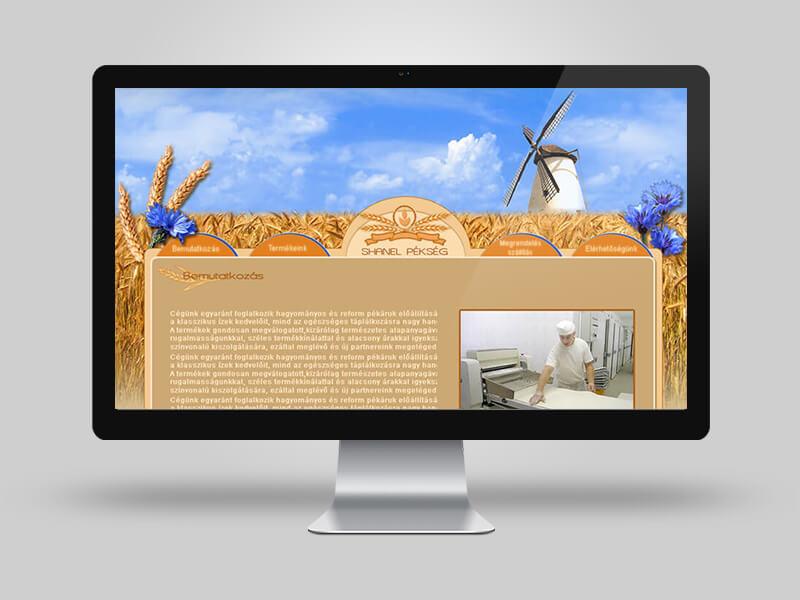 Chanel pékség - bemutatkozó weboldal