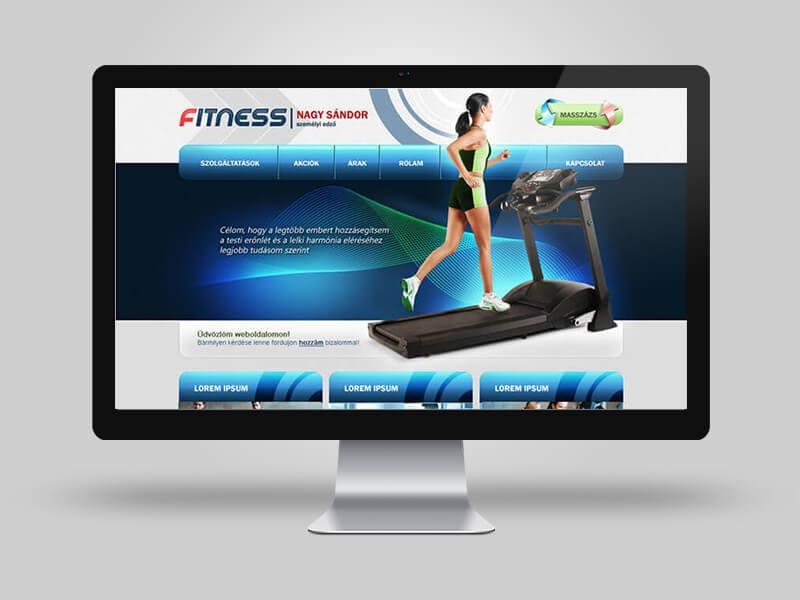 N. Sándor fitness edző - bemutatkozó weboldal fejlesztés