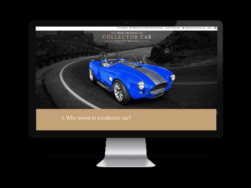 SwissCars - cégbemutató weboldal készítés