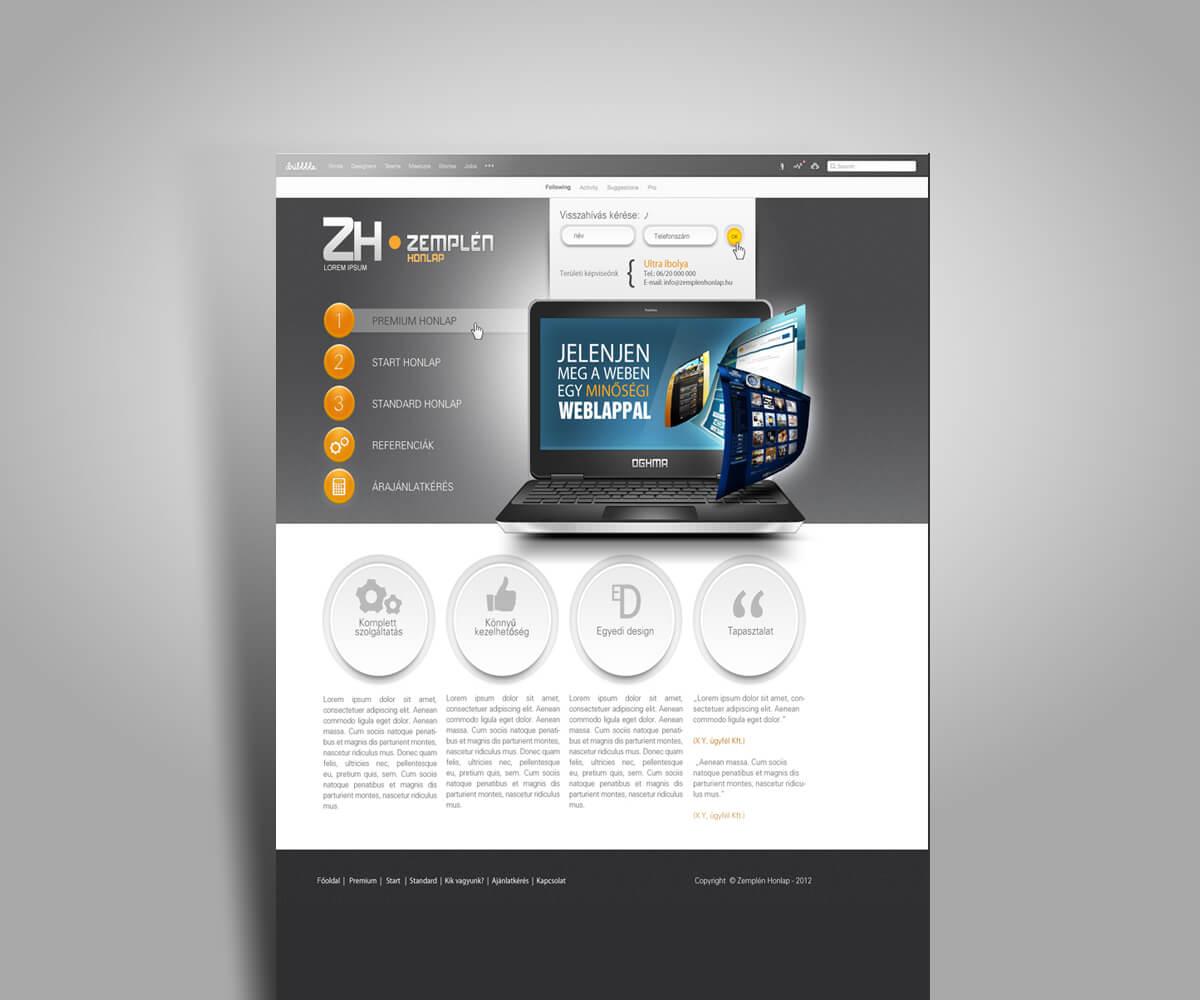 Cégbemutató weboldal tervezés - mobilbarát weboldal tervezés