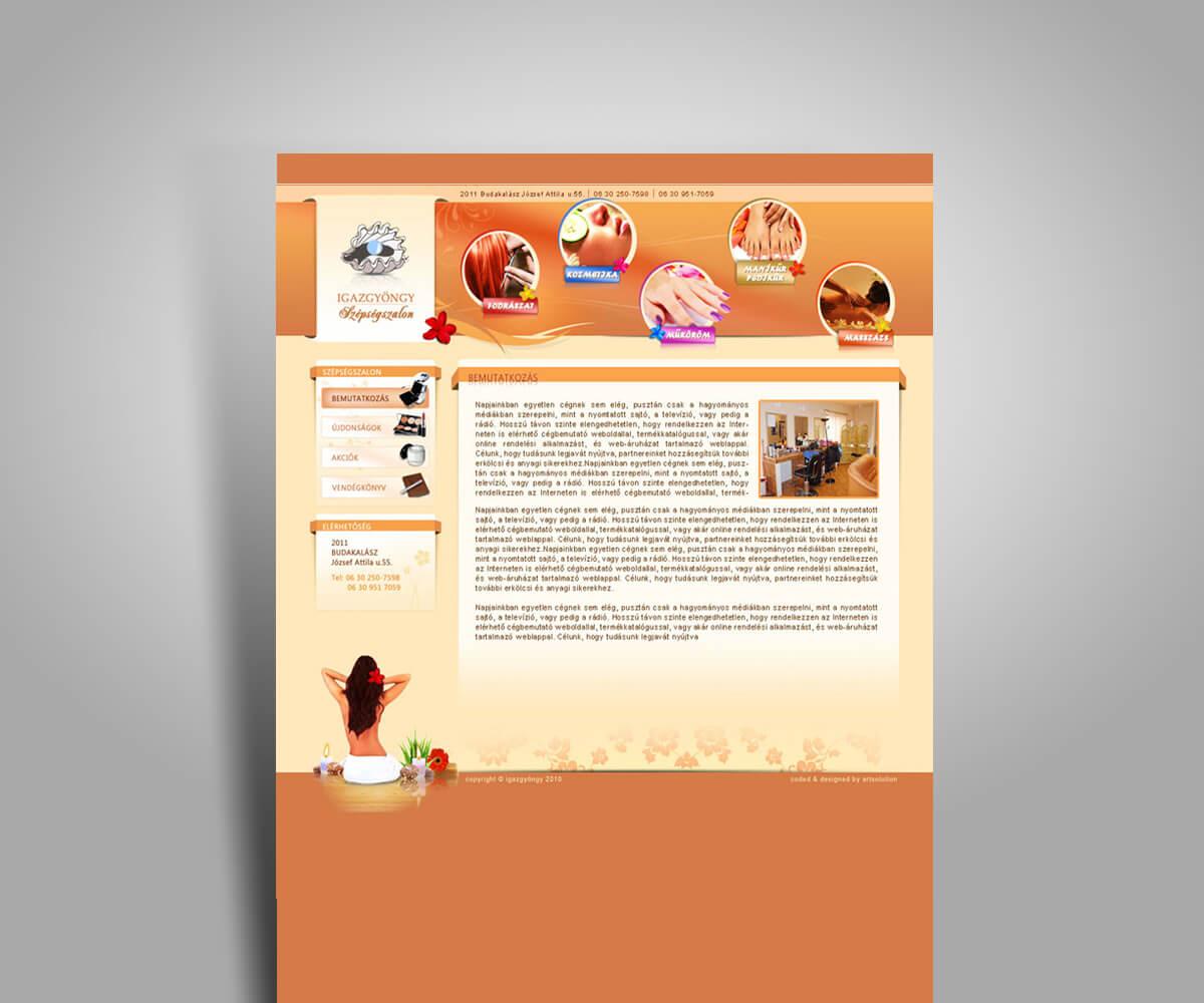 Cégbemutató weboldal tervezés