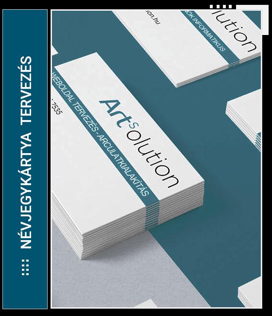 Névjegykártya, céges levélpapír és boríték tervezés