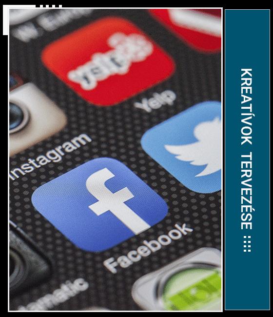Hirdetési kreatívok, Facebook profilkép, borítókép, postokhoz szükséges grafikák, Instagram profilkép és Instagram postok grafikai tervezése