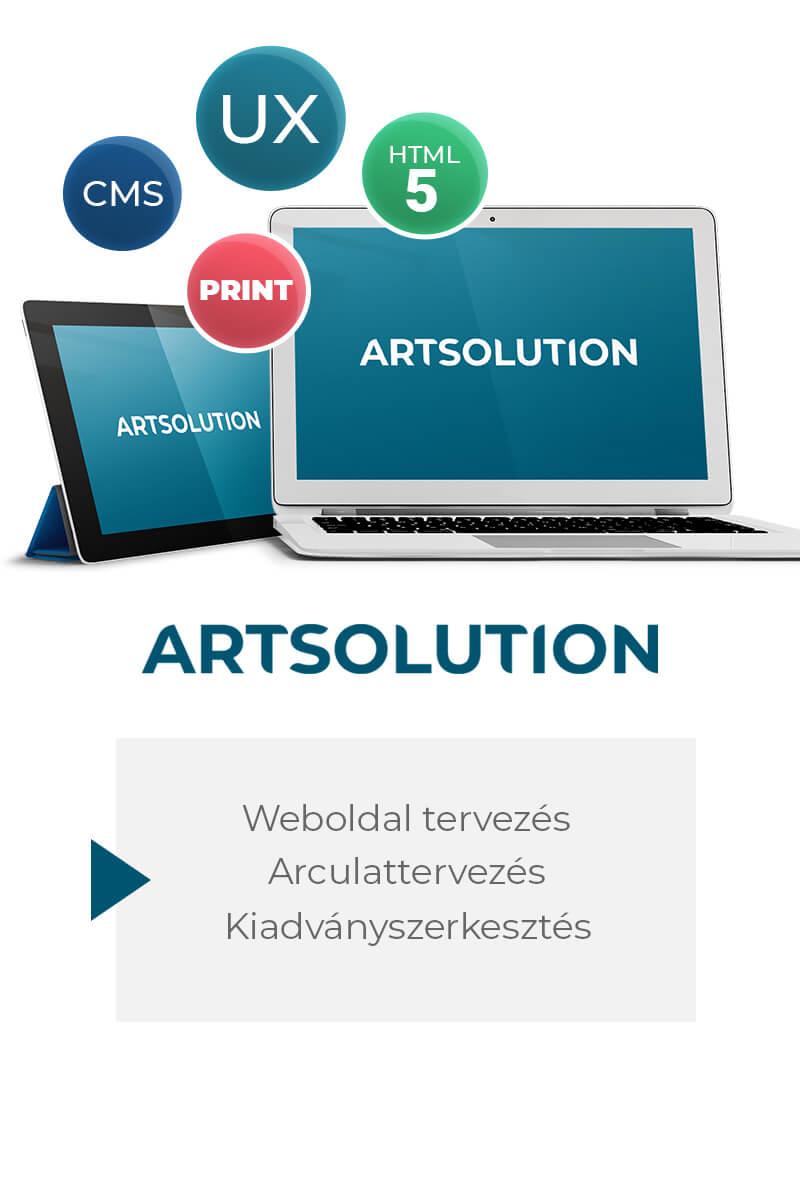 Artsolution - Reszponzív weboldal tervezés, arculattervezés, kiadványszerkesztés, reklámgrafika