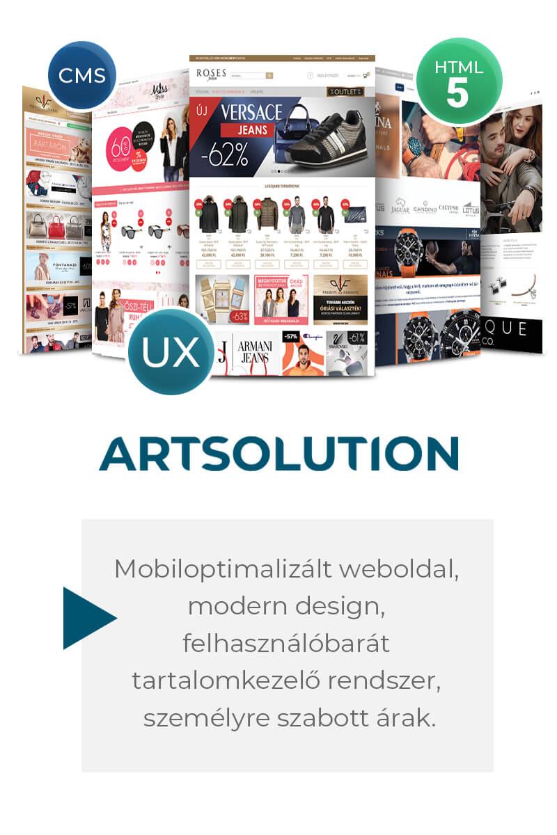Mobilbarát cégbemutató weboldal, microsite, landing page, webáruház és katalógus weboldal készítés