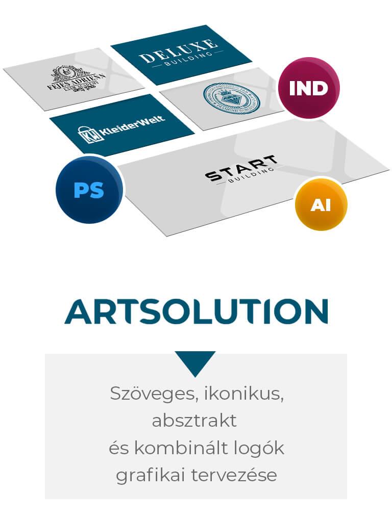 Szöveges, ikonikus, absztrakt, kombinált logó vagy embléma grafikai tervezése