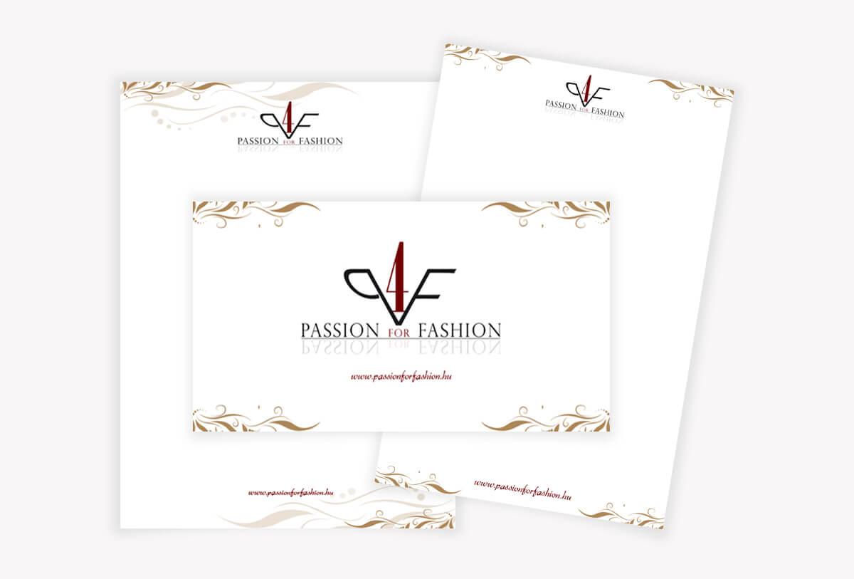 Céges levélpapír és boríték grafikai tervezése