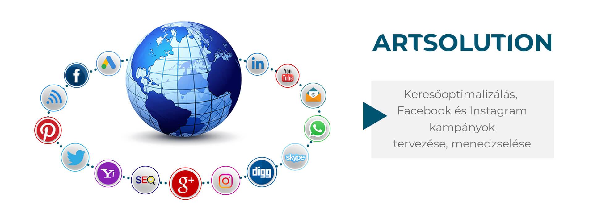 Keresőoptimalizálás, Facebook és Instagram kampányok tervezése, menedzselése