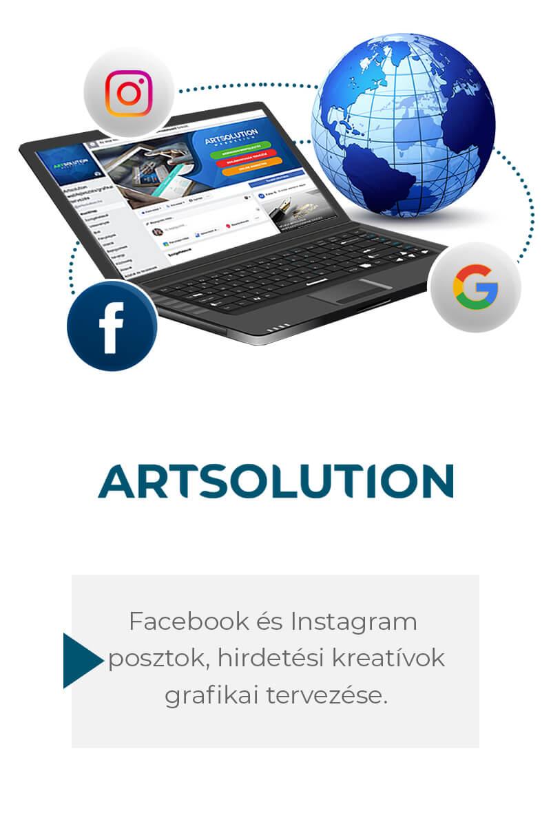 Facebookon és Instagramon szolgáltatást vagy terméket népszerűsítő posztok és hirdetési kreatívok tervezése